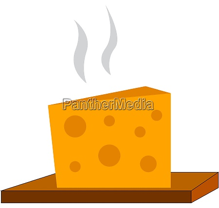 a happy cheese vector or color