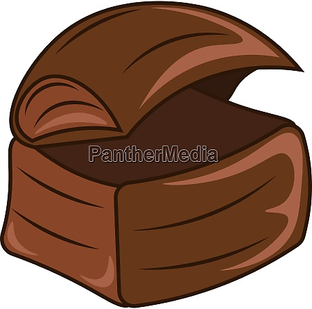 a wooden chest vector or color