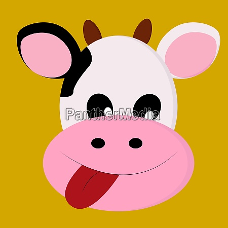 a happy cow vector or color