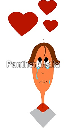 a crying boy vector or color