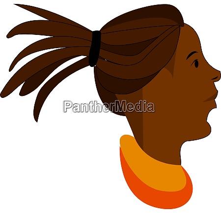 a girl with dreadlocks vector or