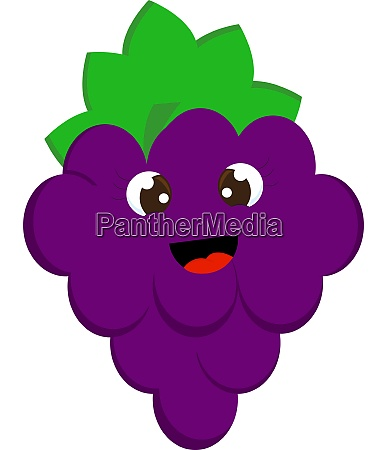 a happy grapes vector or color