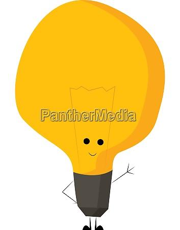 a happy lamp bulb vector or