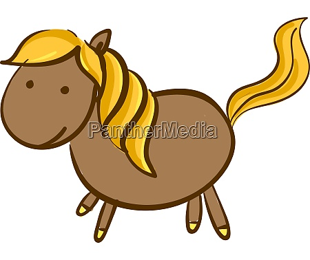 a horse with a gold tail