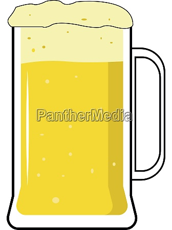 glass of beer illustration vector on