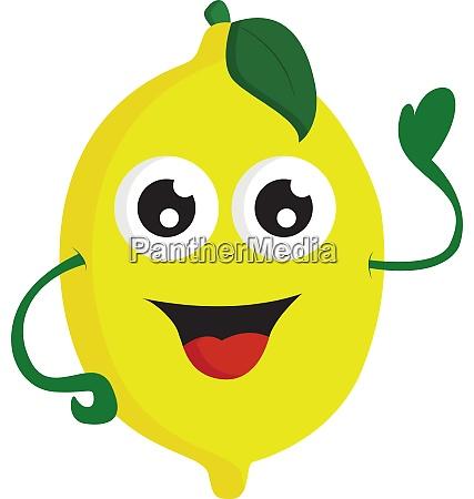 a happy lemon vector or color