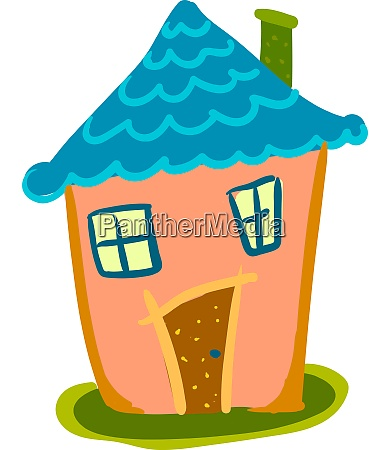 a colorful little house vector or