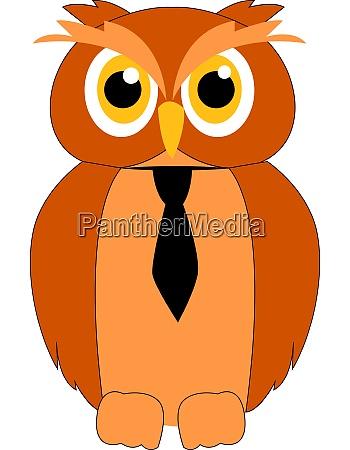 a green owl vector or color