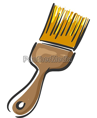 a yellow paint brush vector or