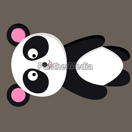a happy panda vector or color