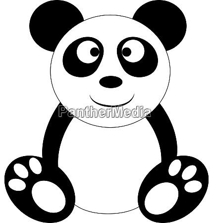 clipart of a standing panda vector