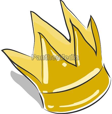 a prince crown vector or color