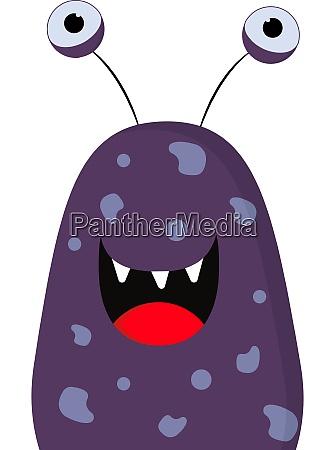 happy monster vector or color illustration