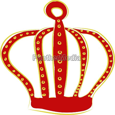 a red crown vector or color