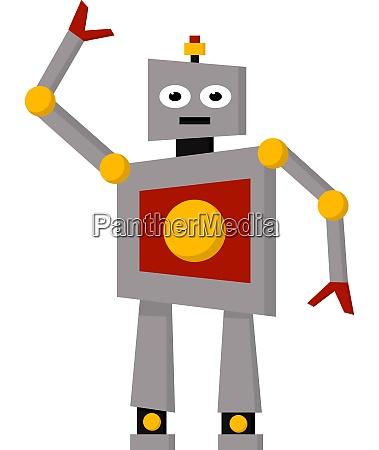 robot with an antenna vector or