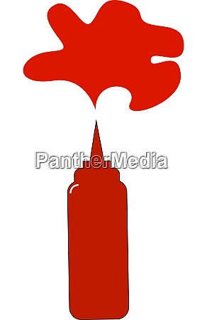 ketchup in bottle illustration vector on