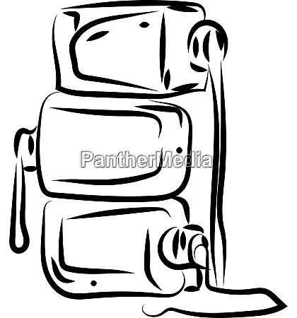 nail polish sketch illustration vector on
