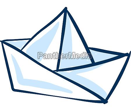 white paper boat illustration vector on