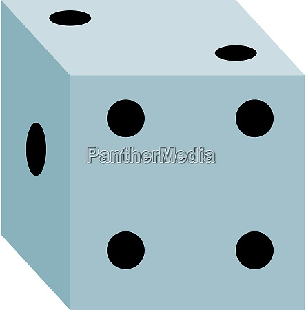 white dice illustration vector on white
