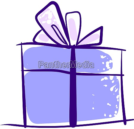 purple gift drawing illustration vector on