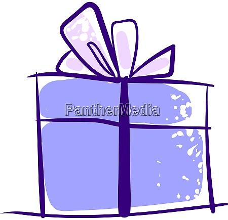 purple, gift, drawing, , illustration, , vector, on - 27517842