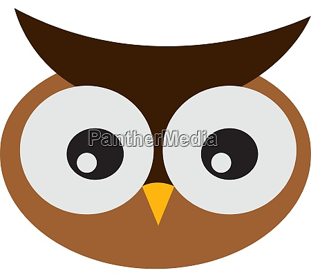 cute owl illustration vector on white