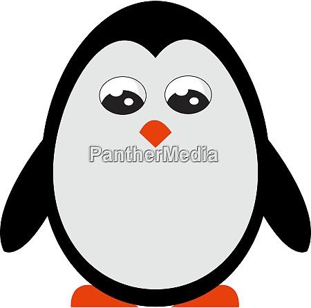 cute little penguin illustration vector on
