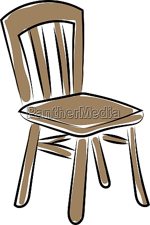 old wooden chair illustration vector on