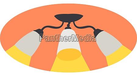 white chandelier illustration vector on white