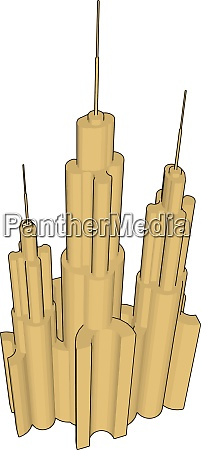 solitaire building illustration vector on white