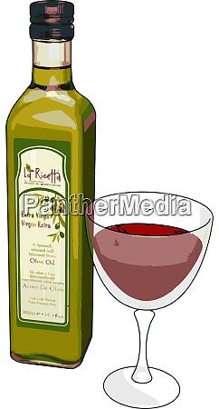 glass of wine illustration vector on