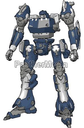 blue model of robot illustration vector