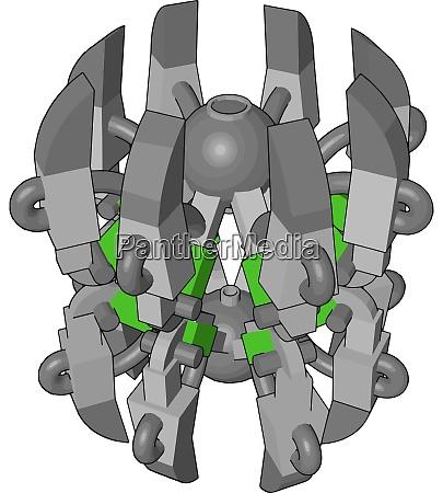 green robot spider illustration vector on