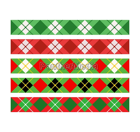 christmas divider border ribbon set argyle