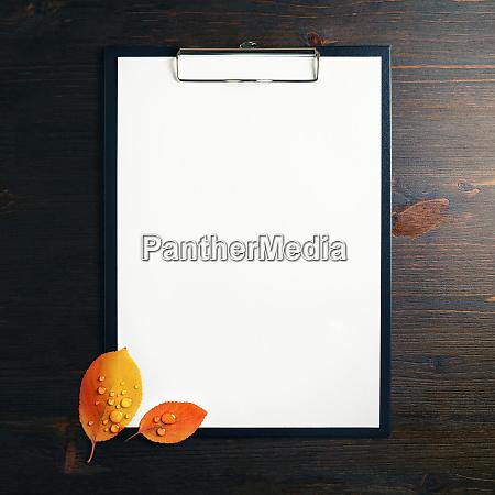 paper in clipboard
