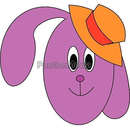 pink bunny vector or color illustration