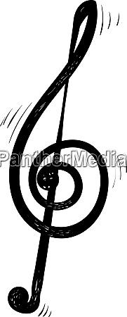 music note illustration vector on white