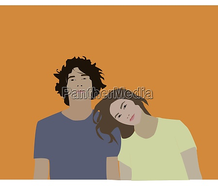 couples illustration vector on white background
