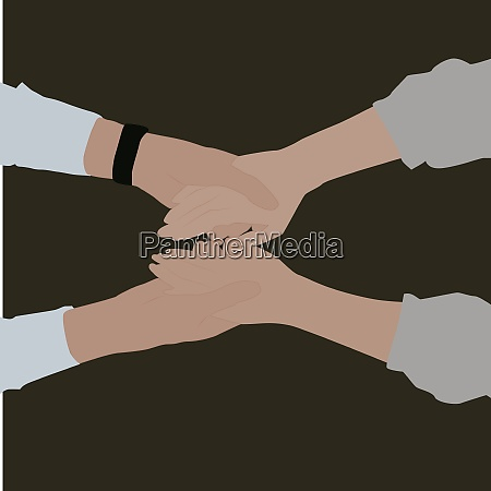 couples hands illustration vector on white