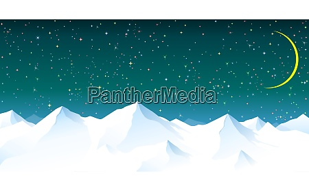 snowy mountains against the background of