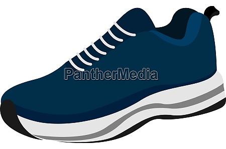 blue sneaker illustration vector on white