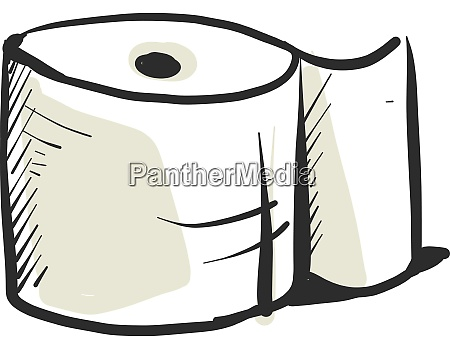 toilet paper drawing illustration vector on