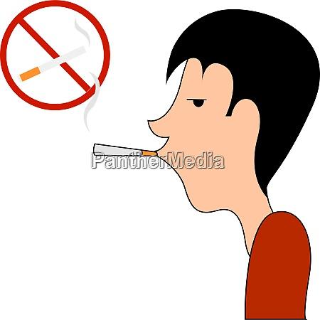 no smoking sing illustration vector on