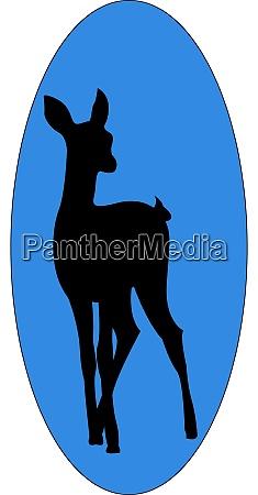 baby deer illustration vector on white