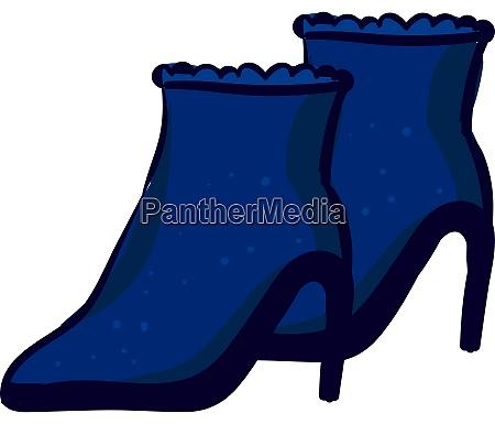 blue shoes illustration vector on white
