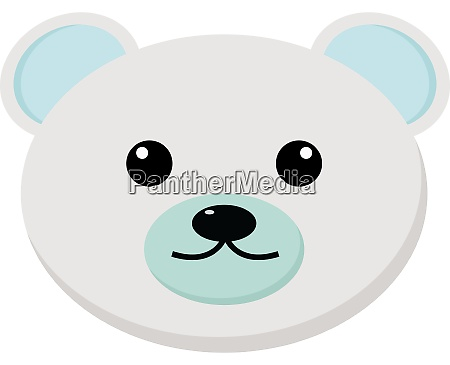 white bear illustration vector on white