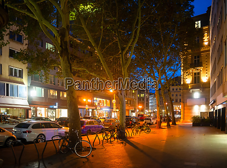 night street frankfurt downtown germany
