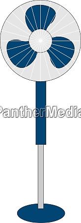 blue, fan, , illustration, , vector, on, white - 27523626