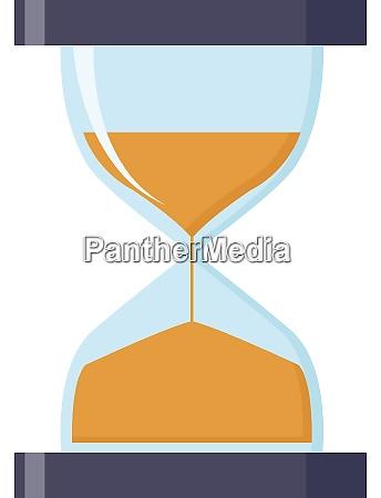 purple hourglass illustration vector on white