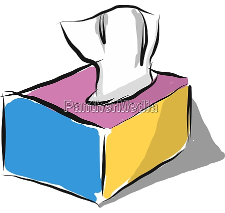 box of tissue vector or color